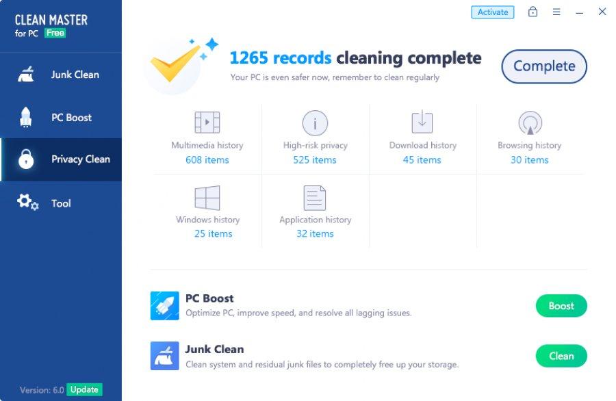 Скачать программу clean master на компьютер